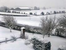 Χειμερινό χιόνι - βόρεια Γιορκσάιρ - Ηνωμένο Βασίλειο στοκ φωτογραφίες