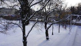 Χειμερινό χιόνι στο πάρκο του Γκόρκυ στοκ φωτογραφίες