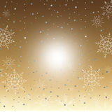 Χειμερινό χρυσό υπόβαθρο Στοκ φωτογραφία με δικαίωμα ελεύθερης χρήσης