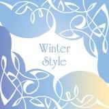 Χειμερινό ύφος Μπορέστε να χρησιμοποιηθείτε για τις κάρτες, υπόβαθρα Στοκ Εικόνα