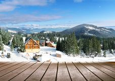 Χειμερινό seaeson τοπίο Στοκ φωτογραφία με δικαίωμα ελεύθερης χρήσης
