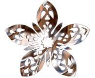 Χειμερινό snowflake σε ένα άσπρο υπόβαθρο Στοκ Εικόνες