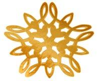 Χειμερινό snowflake σε ένα άσπρο υπόβαθρο Στοκ φωτογραφία με δικαίωμα ελεύθερης χρήσης