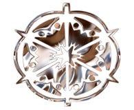 Χειμερινό snowflake σε ένα άσπρο υπόβαθρο Στοκ φωτογραφίες με δικαίωμα ελεύθερης χρήσης