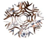 Χειμερινό snowflake σε ένα άσπρο υπόβαθρο Στοκ Φωτογραφίες
