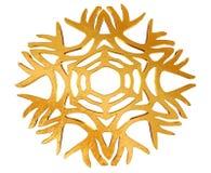 Χειμερινό snowflake σε ένα άσπρο υπόβαθρο Στοκ Εικόνα