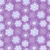 Χειμερινό snowflake της Νίκαιας σύνολο άνευ ραφής διάνυσμα προτύπων Στοκ Φωτογραφία