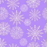 Χειμερινό snowflake της Νίκαιας σύνολο άνευ ραφής διάνυσμα προτύπων Στοκ φωτογραφία με δικαίωμα ελεύθερης χρήσης