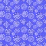 Χειμερινό snowflake της Νίκαιας σύνολο άνευ ραφής διάνυσμα προτύπων Στοκ Εικόνες