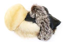 Χειμώνας Ñ  aps της γούνας και του δέρματος Στοκ Εικόνες