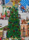 χειμώνας δέντρων σκηνής Χρι&s Στοκ εικόνα με δικαίωμα ελεύθερης χρήσης
