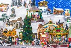 χειμώνας δέντρων σκηνής Χρι&s Στοκ Φωτογραφίες