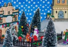 χειμώνας δέντρων σκηνής Χρι&s Στοκ φωτογραφία με δικαίωμα ελεύθερης χρήσης