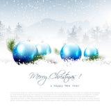χειμώνας δέντρων τοπίων Χριστουγέννων noel διανυσματική απεικόνιση