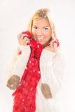 χειμώνας ήλιων χαμόγελου κοριτσιών ημέρας παιδιών Στοκ Εικόνες