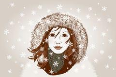 χειμώνας ήλιων χαμόγελου κοριτσιών ημέρας παιδιών Στοκ φωτογραφία με δικαίωμα ελεύθερης χρήσης