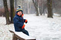 χειμώνας αγοριών στοκ εικόνα με δικαίωμα ελεύθερης χρήσης