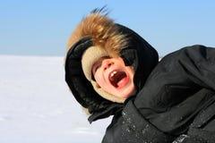 χειμώνας αγοριών Στοκ εικόνες με δικαίωμα ελεύθερης χρήσης