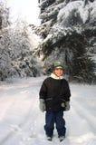 χειμώνας αγοριών Στοκ Εικόνες