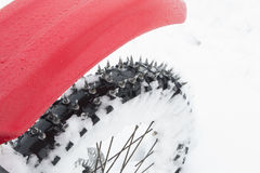 Χειμώνας αθλητικών μοτοσικλετών Στοκ εικόνες με δικαίωμα ελεύθερης χρήσης