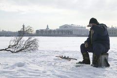 χειμώνας αλιείας Στοκ εικόνες με δικαίωμα ελεύθερης χρήσης