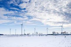 χειμώνας ανεμόμυλων πάρκω&nu Στοκ Φωτογραφία
