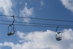 Χειμώνας ανελκυστήρων εδρών Στοκ εικόνες με δικαίωμα ελεύθερης χρήσης
