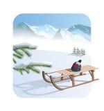 Χειμώνας - απεικόνιση Στοκ Εικόνα