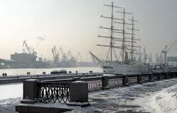 χειμώνας αποβαθρών Στοκ Εικόνα
