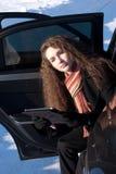 χειμώνας αυτοκινήτων διακοπής Στοκ Φωτογραφίες