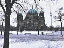Χειμώνας Βερολίνο στοκ φωτογραφίες