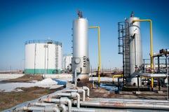 χειμώνας βιομηχανίας φυσικού αερίου Στοκ Εικόνες