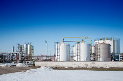 χειμώνας βιομηχανίας φυσικού αερίου Στοκ Φωτογραφία
