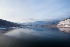 χειμώνας βουνών λιμνών της &Gam Στοκ Εικόνα