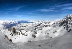 χειμώνας βουνών της Γαλλίας Στοκ φωτογραφία με δικαίωμα ελεύθερης χρήσης