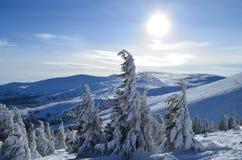 χειμώνας βουνών τοπίων της Βουλγαρίας bansko Στοκ Εικόνες