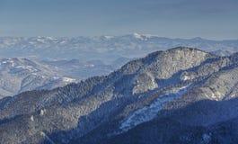 χειμώνας βουνών τοπίων της Βουλγαρίας bansko Στοκ Φωτογραφία