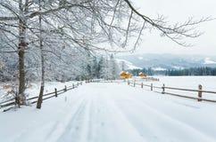 χειμώνας βουνών τοπίων χωρώ&n Στοκ Φωτογραφίες