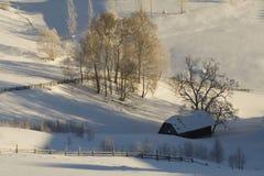 χειμώνας βουνών τοπίων στοκ εικόνες με δικαίωμα ελεύθερης χρήσης