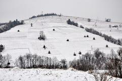 χειμώνας βουνών Στοκ εικόνες με δικαίωμα ελεύθερης χρήσης