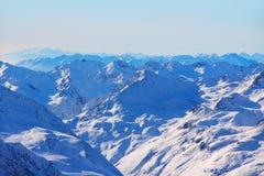 χειμώνας βουνών gudauri Καύκασου Γεωργία Στοκ Φωτογραφία