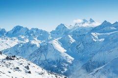 χειμώνας βουνών gudauri Καύκασου Γεωργία Στοκ εικόνες με δικαίωμα ελεύθερης χρήσης