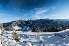 χειμώνας βουνών gudauri Καύκασου Γεωργία Στοκ Φωτογραφίες