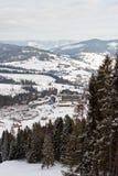 χειμώνας βουνών gudauri Καύκασου Γεωργία Στοκ εικόνα με δικαίωμα ελεύθερης χρήσης