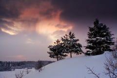 χειμώνας βραδιού στοκ εικόνες