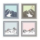 χειμώνας γραμματοσήμων διανυσματική απεικόνιση