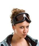 χειμώνας γυαλιών κοριτσ&io στοκ εικόνες