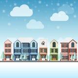 Χειμώνας εικονικής παράστασης πόλης Στοκ Φωτογραφία