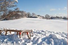 χειμώνας ελκήθρων Στοκ Εικόνες