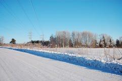 χειμώνας επαρχίας Στοκ Εικόνες